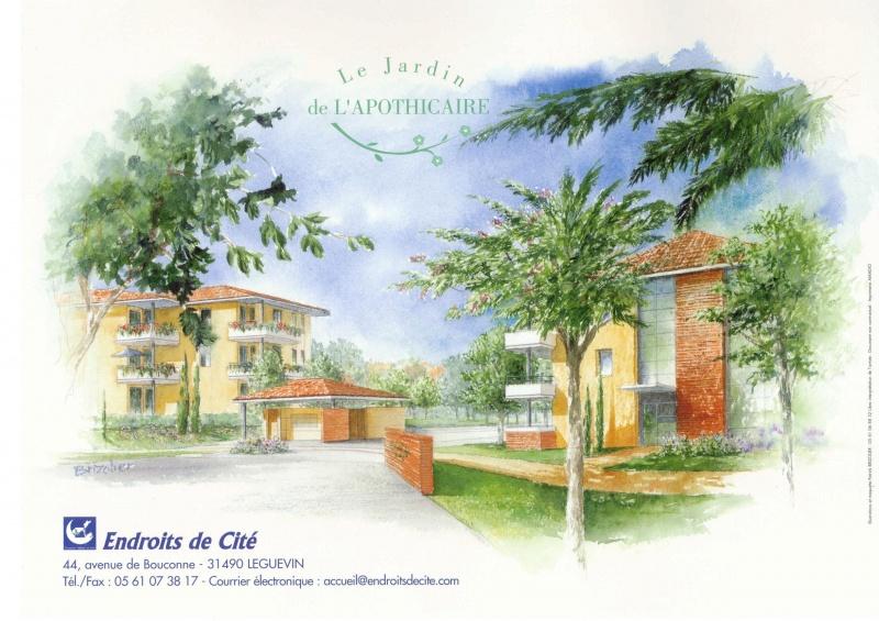 Programme immobilier le jardin de l 39 apothicaire toulouse - Residence les jardins de l universite toulouse ...